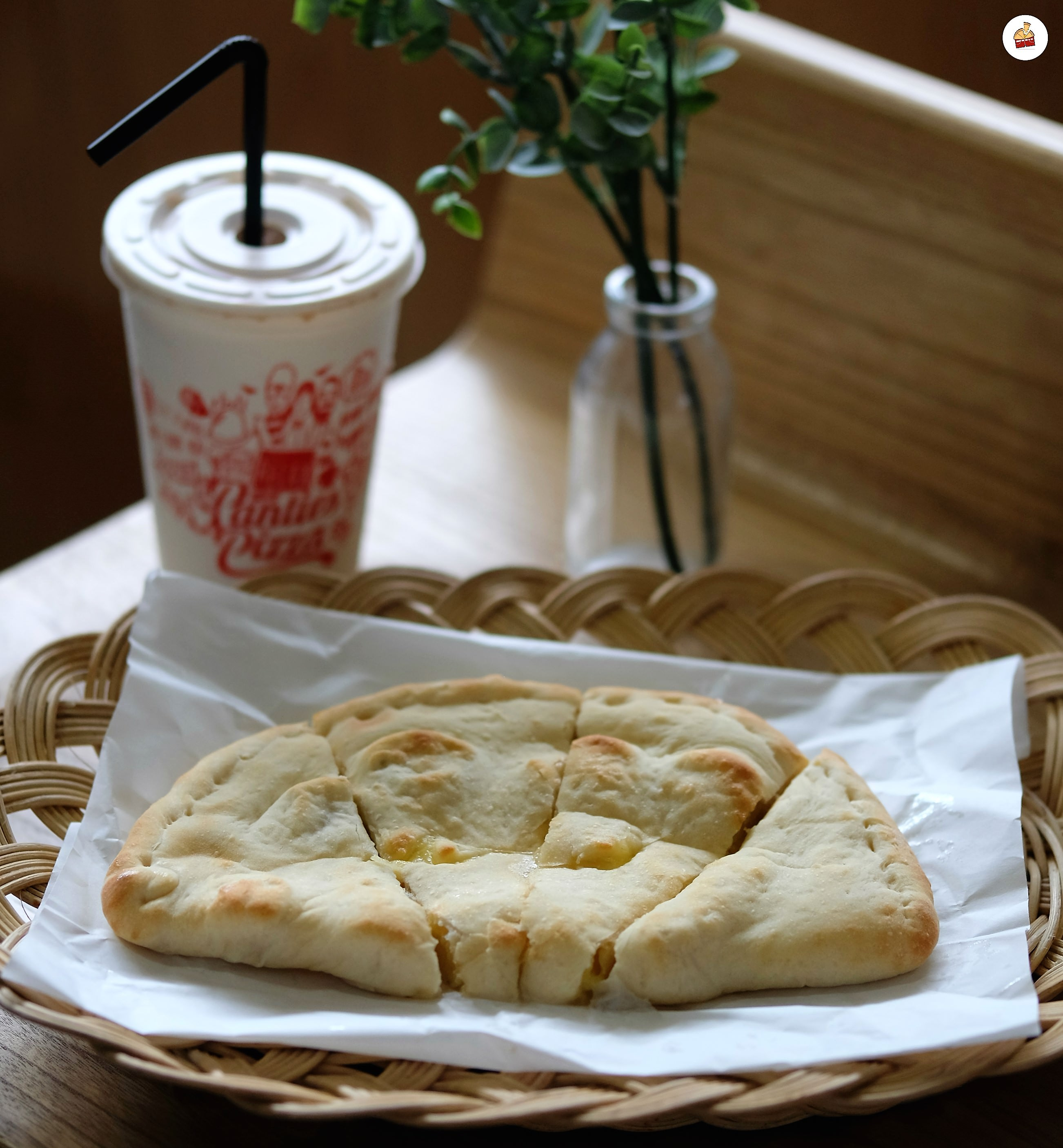 Mood Booster With 4 Slices Of Delicious Pizza Don't forget to be happy Mobile Single Slide