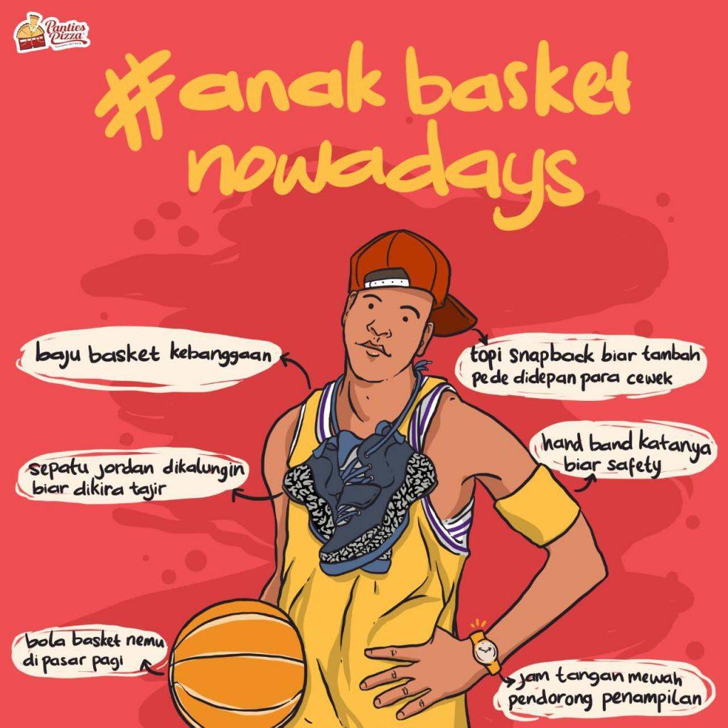 Anak Basket Nowadays Ilustrasi