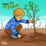 Plant For Planet Earth Ilustrasi