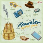 Travel Starter Pack Ilustrasi