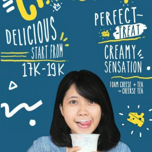 Minuman Teh Dengan Sensasi Rasa Dan Cara Minum Yang Anti Mainsteam Cheerse Tea Panties Pizza Delicious Cheerse Tea is Coming
