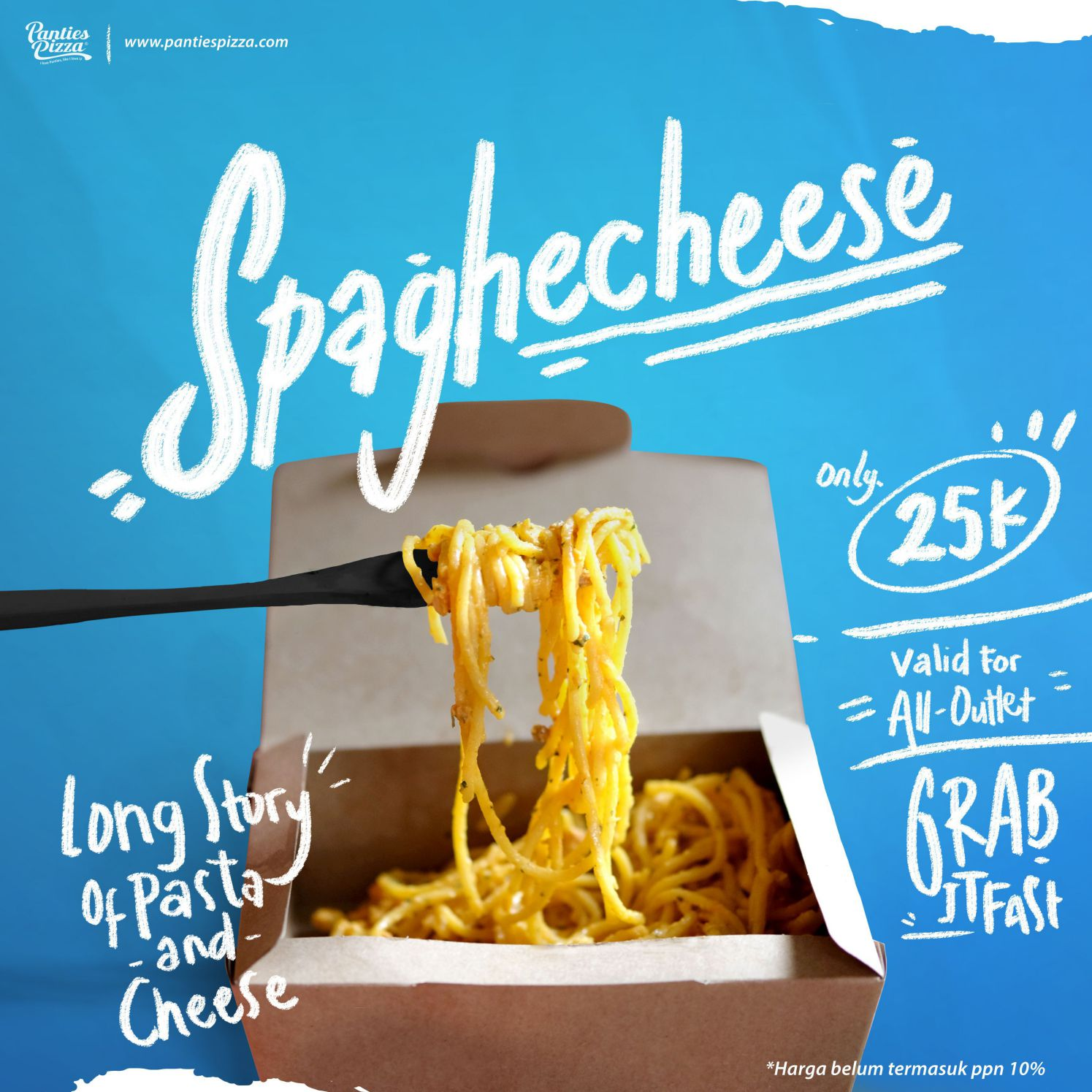 Spaghecheese Panties Pizza Menu Snack Baru Spaghecheese and French Zone Only at Panties Pizza Mobile Single Slide