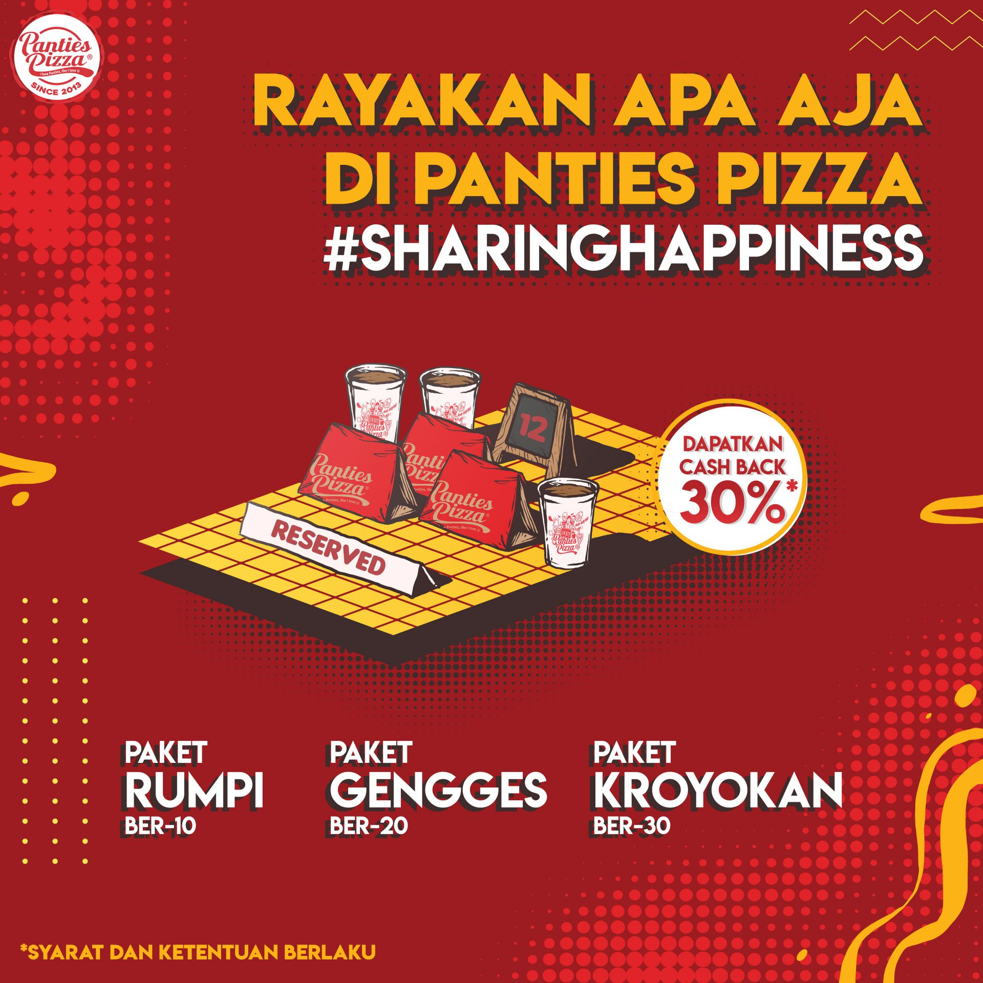 Rev Sharing Happiness Promo Sharing Happiness Panties Pizza Drink Inspiration News Pasta Pizza Promo Rice Single Slide