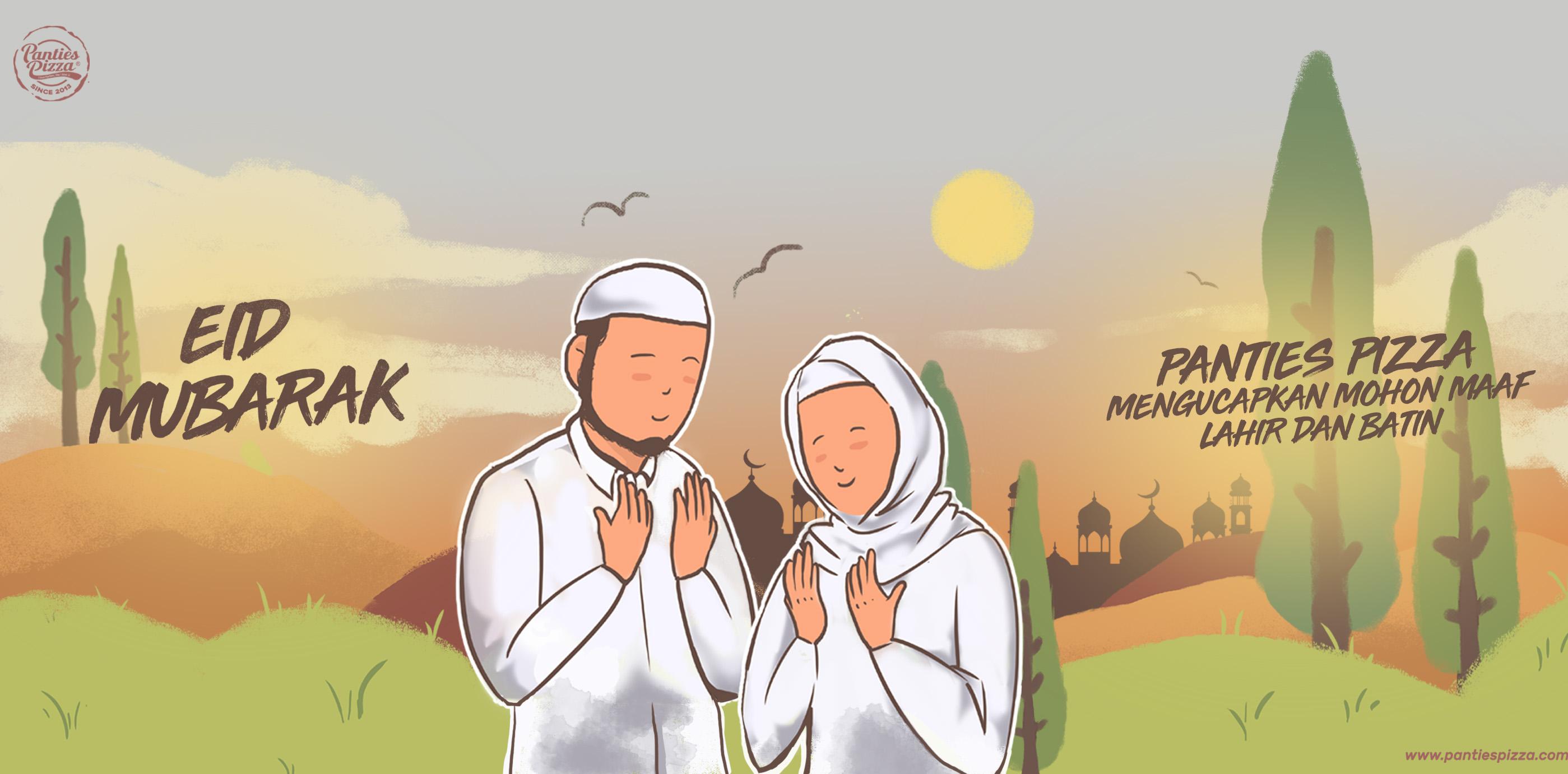 Pizza Panties Ucapan Idul Fitri 1440h Mari Kembali Suci di Hari yang Fitri Mobile News Single Slide