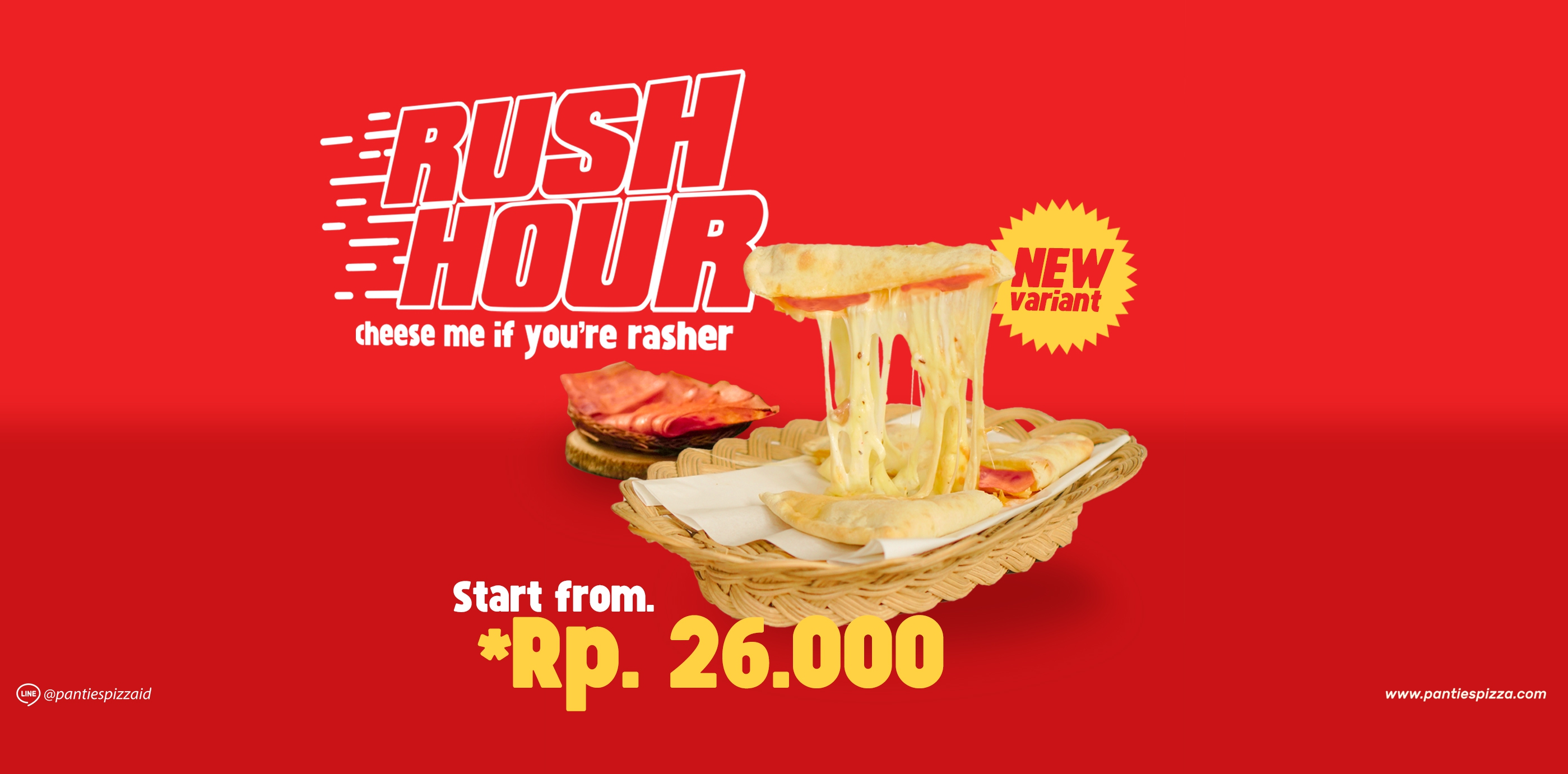 Rush Hour Pizza Panties Pizza Kerja Keras Dengan Waktu Terbatas RUSH HOUR PIZZA Varian Baru Panties Pizza Menu Baru Mobile News Pizza Single Slide
