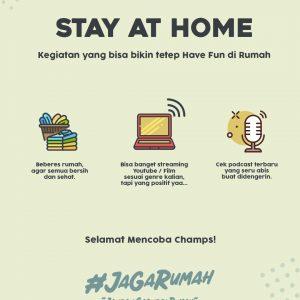 Kegiatan Dirumah Selama Stay At Home Kegiatan yang bisa dilakukan saat stay at home