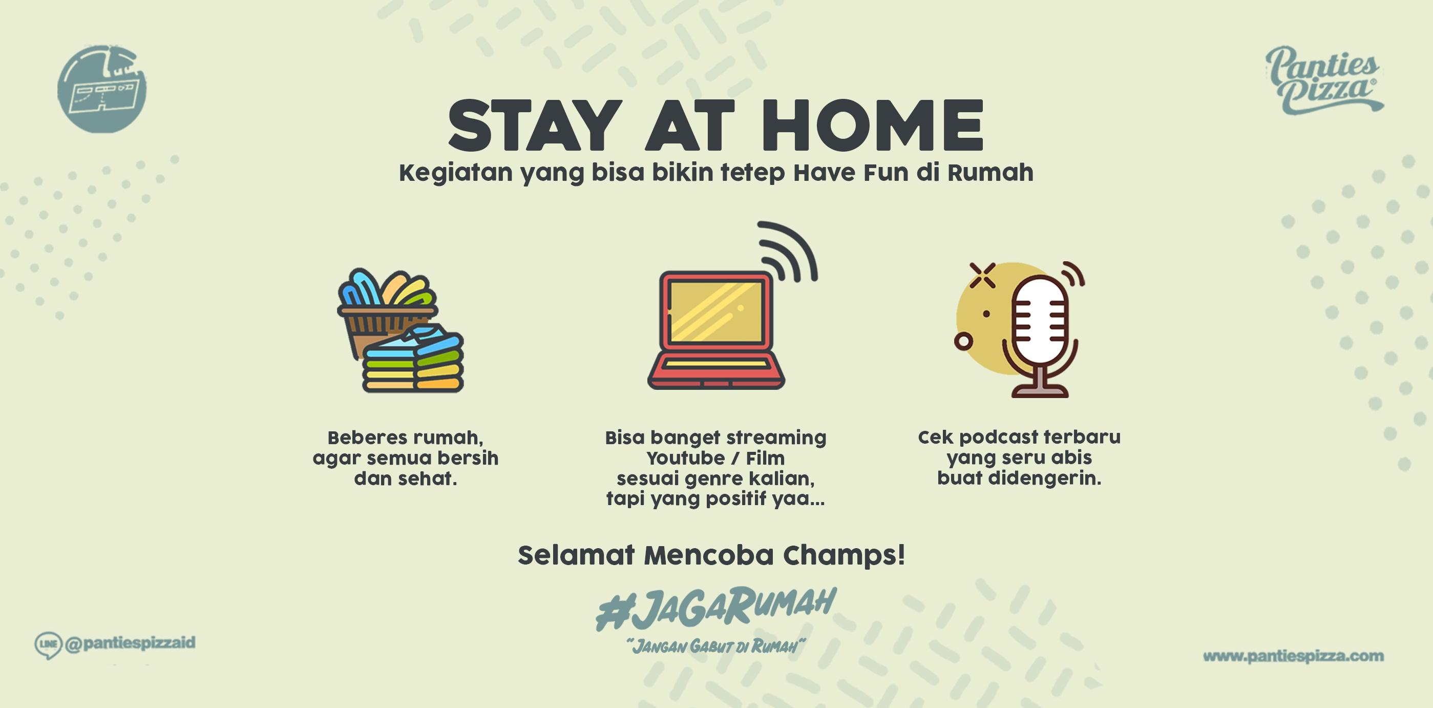 Stay At Home Kegiatan Dirumah Yang Bisa Dilakukan Jaga Rumah Kegiatan yang bisa dilakukan saat stay at home