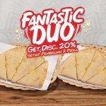 Fantactic Duo Panties Pizza Promo Terbaru April 2021 Potongan Harga 20 Persen Setiap Pembelian 2 Pizza Varian Apa Saja Fantastic Duo Latest News Panties Pizza Menu Baru Pizza Slide