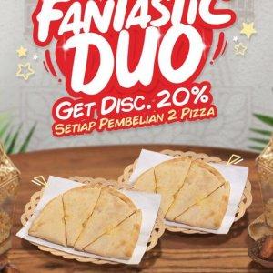 Fantactic Duo Promo Panties Pizza Terbaru April 2021 Get Discount 20 Persen Setiap Pembelian 2 Pizza Varian Apa Saja Fantastic Duo